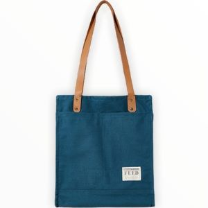 Feed Projects Canvas Market Tote Sea Blue